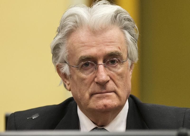 Bosnian Serb wartime leader Radovan Karadzic, 72, was sentenced to four decades behind bars in 2016 for genocide, war crimes and crimes against humanity, arising from the Balkan country's three-year war which killed 100,000 people (AFP Photo/MICHAEL KOOREN)
