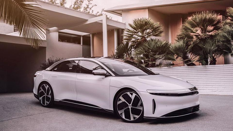 The Lucid Air all-electric sedan. - Credit: Photo: Courtesy of Lucid Motors.