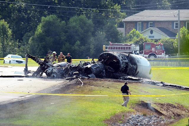 Earnhardt and family survive fiery plane crash