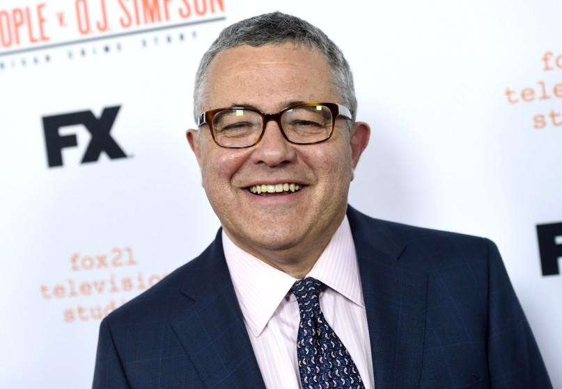 """FILE - In this April 4, 2016 file photo, author and CNN commentator Jeffrey Toobin arrives at the """"American Crime Story: The People v. O.J. Simpson"""" For Your Consideration event in Los Angeles. Toobin's next book will be a probe into Donald Trump's election. Doubleday announced Tuesday that the book was currently untitled and no release date has been set. (Photo by Chris Pizzello/Invision/AP, File)"""
