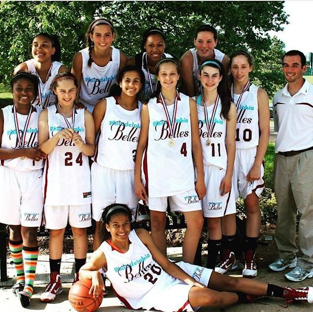 Avery Marz (No. 3) was one of a handful of Division I prospects on the Philadelphia Belles AAU team. (Sean Costello)