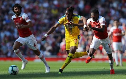 <span>Arsenal could not handle Zaha on Sunday</span> <span>Credit: Getty images </span>