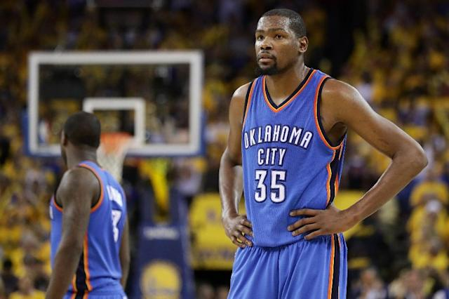 Kevin Durant announced that he will leave Oklahoma City to join the Golden State Warriors (AFP Photo/Ezra Shaw)