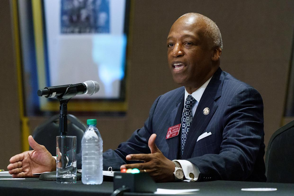 Billy Mitchell, Georgia State Rep. and Minority House Chair speaks during a U.S. Senate Rules Committee Georgia Field Hearing on the right to vote at the National Center for Civil and Human Rights on July 19, 2021 in Atlanta, Georgia. (Elijah Nouvelage/Getty Images)