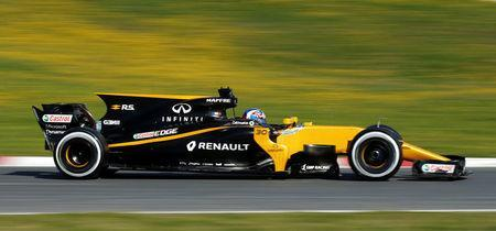 Formula One - F1 - Test session - Barcelona-Catalunya racetrack in Montmelo, Spain - 1/3/17. Renault's Jolyon Palmer in action. REUTERS/Albert Gea