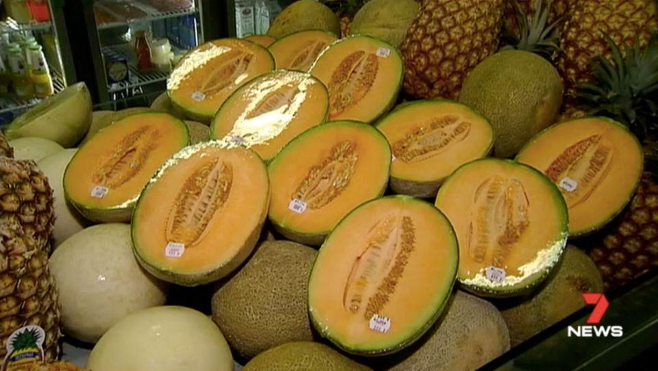 Rockmelon consumption has been linked to an outbreak of listeria. Source: 7 News
