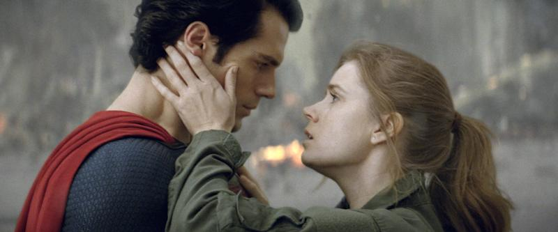 """This film publicity image released by Warner Bros. Pictures shows Henry Cavill as Superman, left, and Amy Adams as Lois Lane in """"Man of Steel."""" (AP Photo/Warner Bros. Pictures)"""