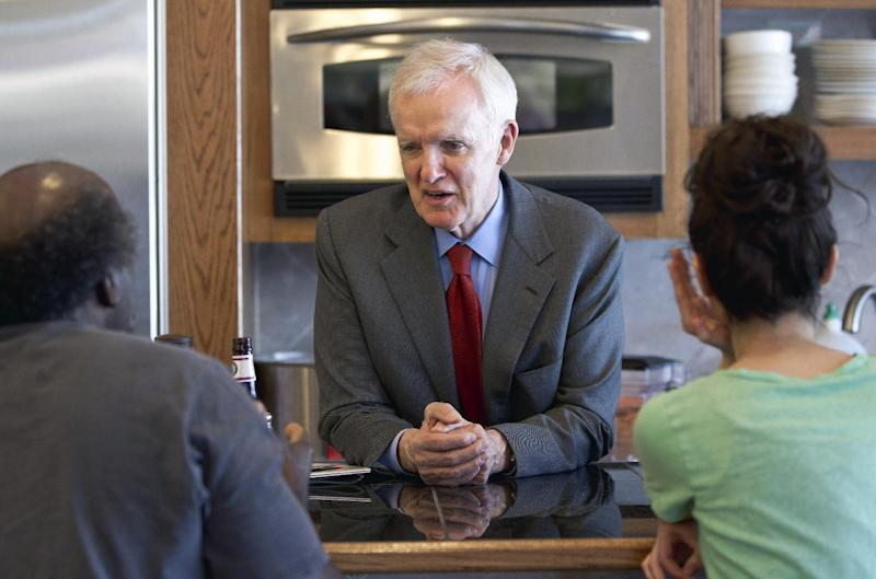FILE - In this May 15, 2012 file photo, Nebraska Democratic Senate candidate Bob Kerrey speaks in the Benson neighborhood in Omaha, Neb.  It's encouraging news for Democrats: Divisive Republican primaries, a surprise GOP retirement in Maine and an unexpectedly strong Democratic challenger in North Dakota are making the battle for Senate control increasingly difficult to predict. Nearly half of all races appear competitive, an unusually high number. (AP Photo/Nati Harnik, File)