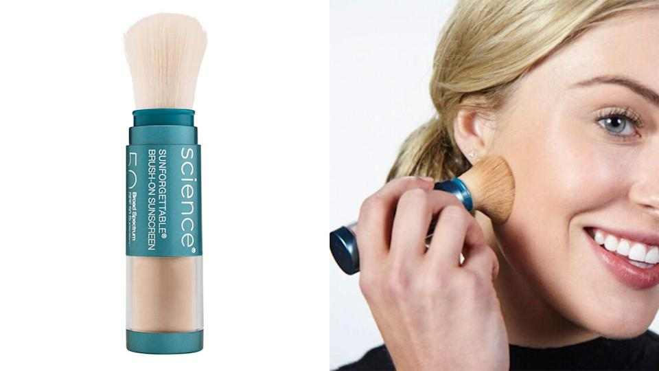Keep your skin protected from the sun with the Colorescience Sunforgettable Total Protection Brush-On Shield SPF 50.
