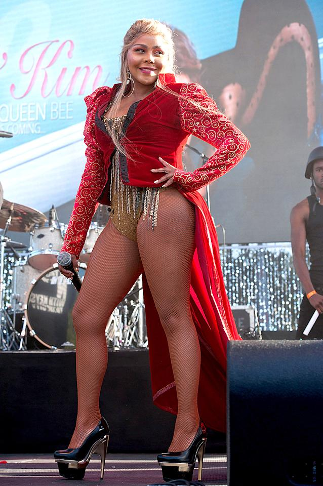 """And last but not least we have Lil' Kim, who performed at L.A.'s Gay Pride Parade in this revealing, ringmaster-inspired ensemble. The Queen Bee? More like the Queen Z ... list. (6/9/2012)<br><br><a target=""""_blank"""" href=""""http://twitter.com/YahooOmg"""">Follow omg! on Twitter!</a><br><br><a target=""""_blank"""" href=""""http://bit.ly/lifeontheMlist"""">Follow What Were They Thinking?! creator, Matt Whitfield, on Twitter!</a>"""