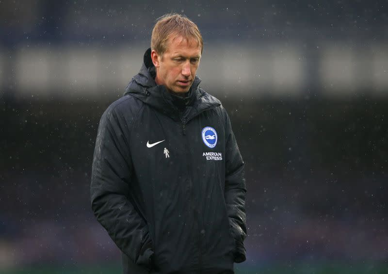 Brighton boss Potter calls for safe return of fans to grounds