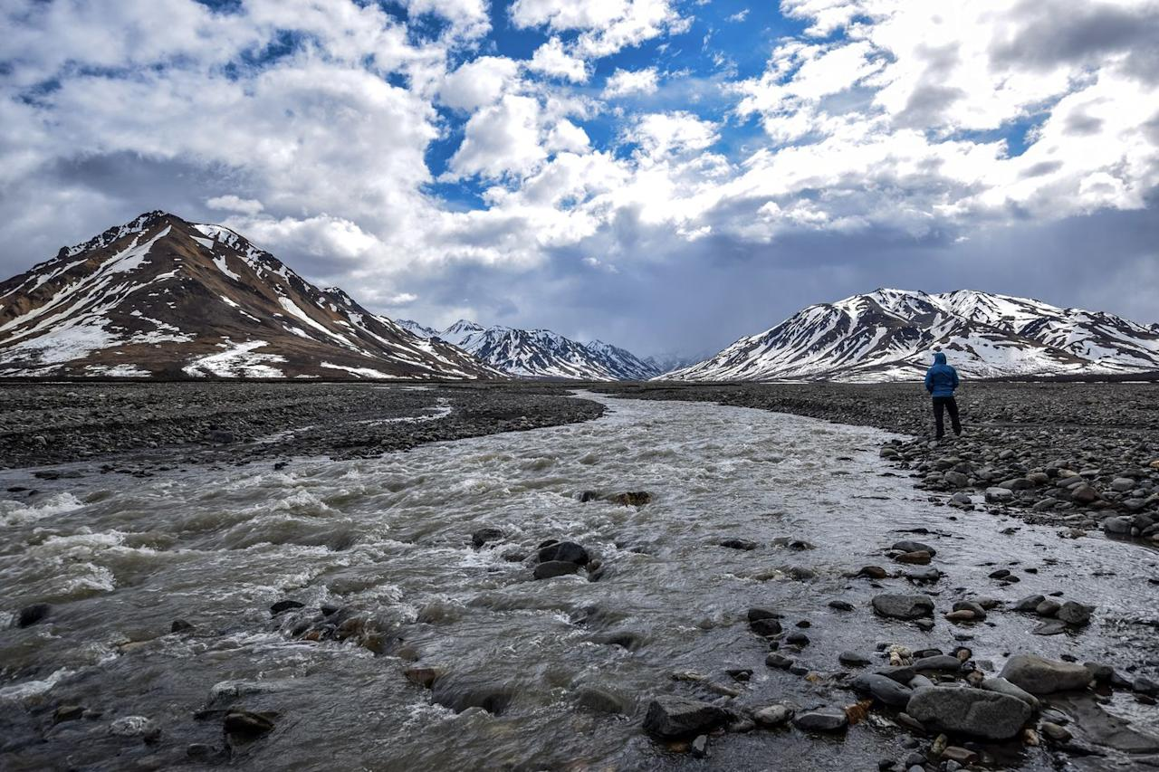 """<p>With six million acres of wild land, <a href=""""https://www.nps.gov/dena/index.htm"""" target=""""_blank"""">Denali National Park</a> is an enticing expanse of pure nature. Though the lone road that runs through the park isn't usually plowed until around mid-April, this is must-see scenery when the weather permits.</p>"""