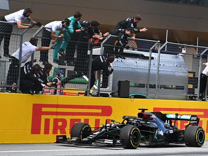 Lewis Hamilton takes victory in the Styrian Grand Prix: AFP via Getty