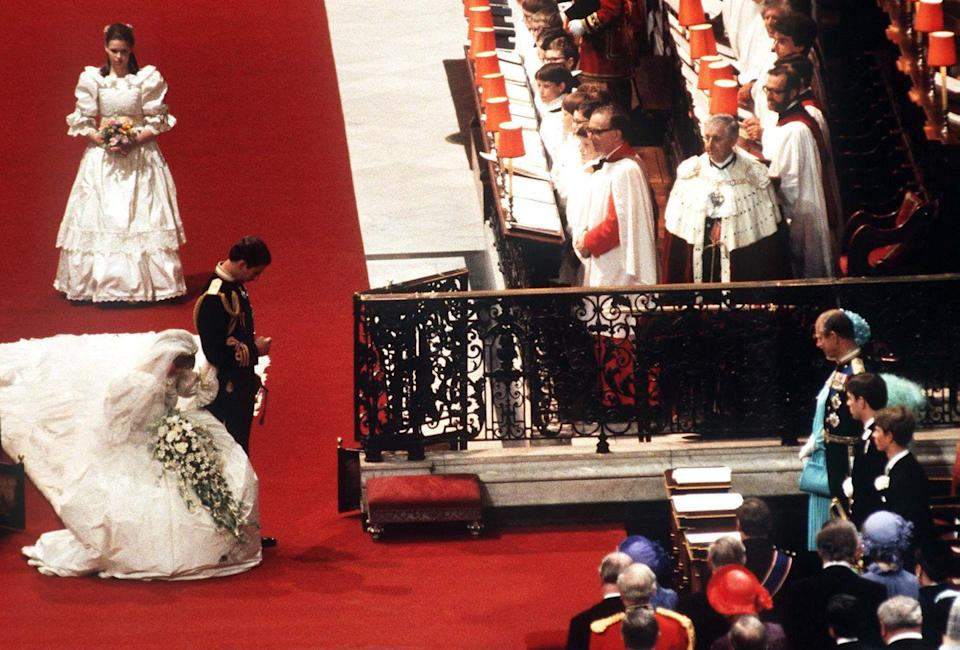 <p>Every bride wants to impress their mother-in-law, but when your mother-in-law also happens to be the Queen, it's customary to give a curtsy upon seeing her—even at your own wedding. </p>
