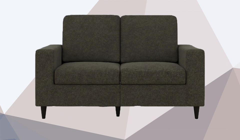 This simple loveseat has rave reviews from shoppers. (Photo: Walmart)