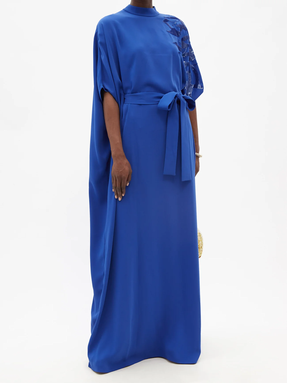 """<h2>Fall Wedding-Guest Black-Tie Dresses</h2><br>If you've got a formal event on the books, these gorgeous floor-length gowns with eye-catching details will satisfy the black-tie dress code without leaving you cold. <br><br><strong>Carolina Herrera</strong> Sequinned sash-waist crepe maxi dress, $, available at <a href=""""https://go.skimresources.com/?id=30283X879131&url=https%3A%2F%2Fwww.matchesfashion.com%2Fus%2Fproducts%2FCarolina-Herrera-Sequinned-sash-waist-crepe-maxi-dress-1424642"""" rel=""""nofollow noopener"""" target=""""_blank"""" data-ylk=""""slk:MatchesFashion"""" class=""""link rapid-noclick-resp"""">MatchesFashion</a>"""