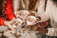 <p>Nothing warms you up quite like a steaming mug of hot cocoa. Turn it into an activity by setting up a hot cocoa bar with mini marshmallows, candy canes, chocolate shavings and your favorite candies for topping. </p>