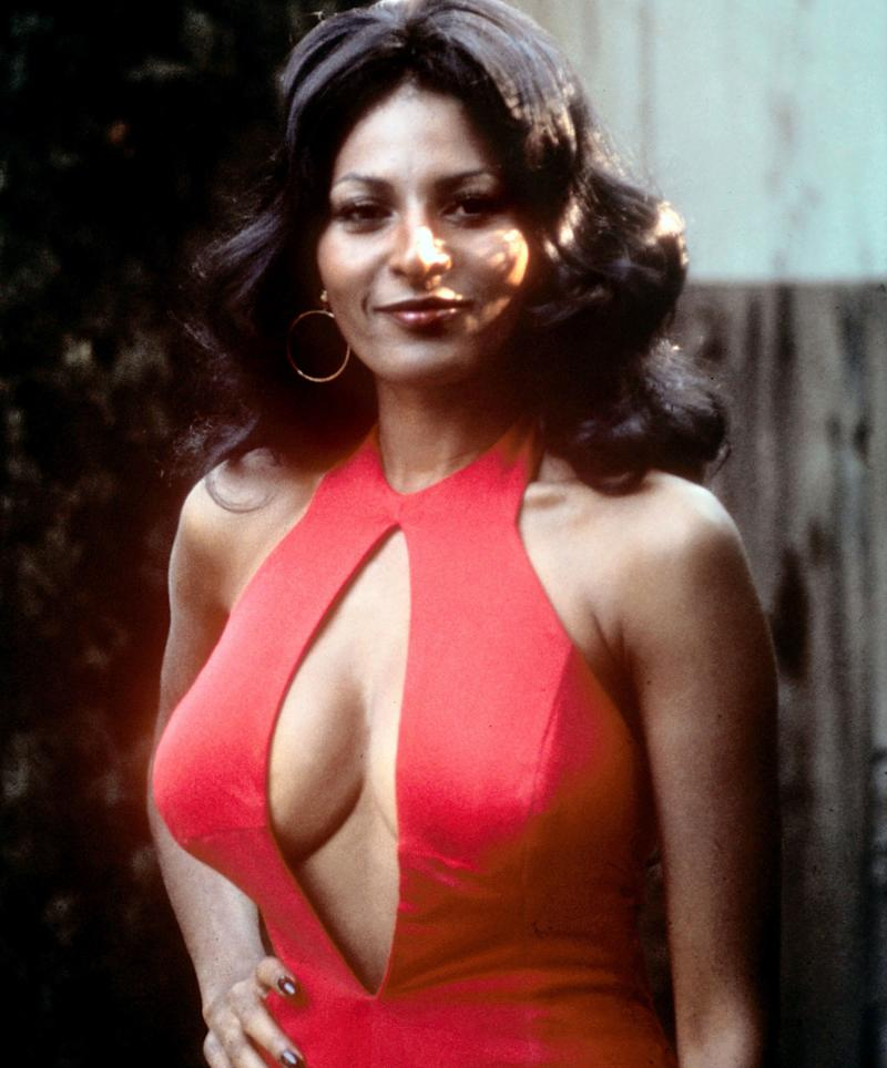 """Pam Grier, styled with voluptuous waves, in 1974. The star of that year's blaxploitation film Foxy Brown radiates her own kind of power as a black woman, explains Redway. """"She showed that you can be strong—and if you choose to be sexy, too, that's your prerogative."""""""
