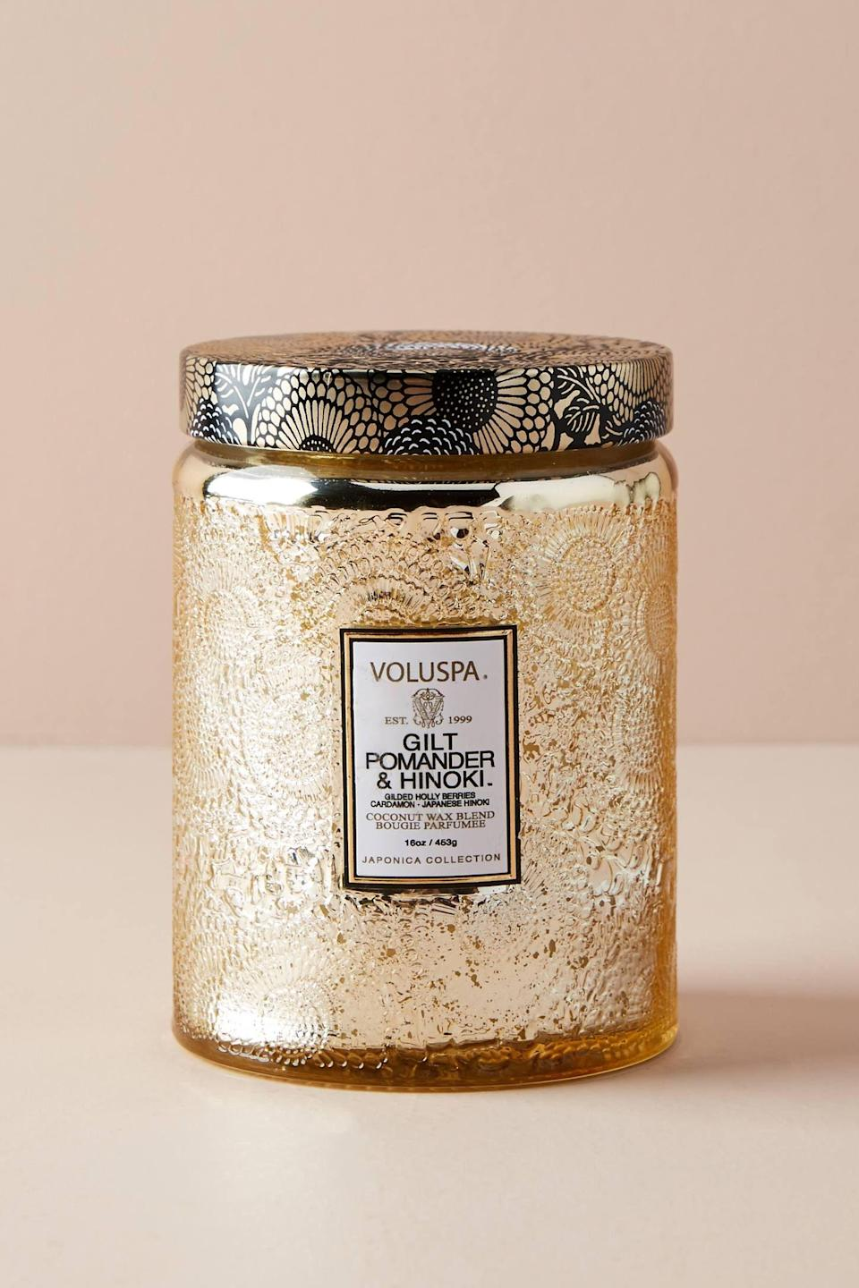 """<p><strong>Voluspa Anthropologie</strong></p><p>anthropologie.com</p><p><strong>$24.00</strong></p><p><a href=""""https://go.redirectingat.com?id=74968X1596630&url=https%3A%2F%2Fwww.anthropologie.com%2Fshop%2Fvoluspa-limited-edition-cut-glass-jar-candle%3Fcolor%3D027%26type%3DSTANDARD%26size%3DOne%2BSize%26quantity%3D1&sref=https%3A%2F%2Fwww.womansday.com%2Frelationships%2Ffamily-friends%2Fg27191135%2Flast-minute-mothers-day-gifts%2F"""" rel=""""nofollow noopener"""" target=""""_blank"""" data-ylk=""""slk:Shop Now"""" class=""""link rapid-noclick-resp"""">Shop Now</a></p><p>Anthropologie's Voluspa candles are packaged in etched glass jars and come in several elegant scents, from Crane Flower to Santiago Huckleberry. To ensure you have one in time for Mother's Day, select in-store pick up at checkout.</p>"""