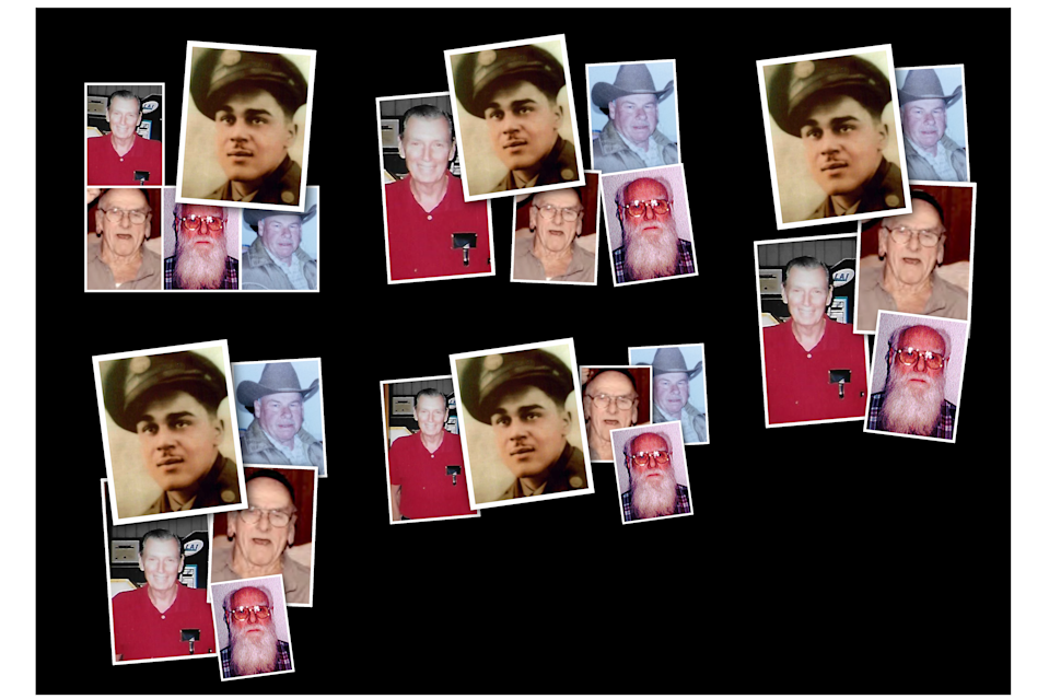 """A former nursing assistant, Reta, Mays, 46, pleaded guilty to murdering seven patients with insulin at the Veterans Affairs hospital in Clarksburg, W.Va. The string of deaths at the hospital included, clockwise from left, Air Force veteran George Nelson Shaw, 81; Army veteran William """"Sport"""" Holloway, 96; Army veteran Archie Dail Edgell, 84; Navy veteran John Hallman, 87; and Army veteran Felix Kirk McDermott, 82. Hallman was cremated; Mays did not plead guilty in his death."""