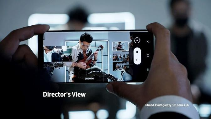 Fitur Director's View Samsung Galaxy S21 Ultra 5G. (Credit: Samsung)