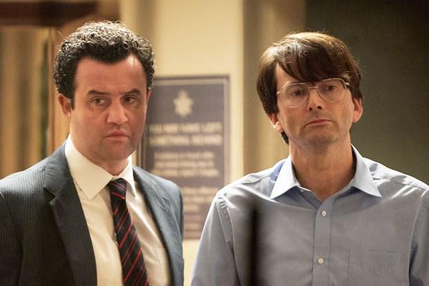 Daniel Mays and David Tennant in 'Des'. (Credit: ITV)