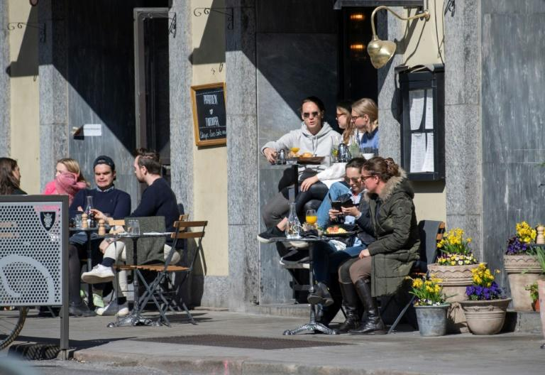 Most businesses have remained open in Sweden during the pandemic (AFP Photo/Anders WIKLUND)