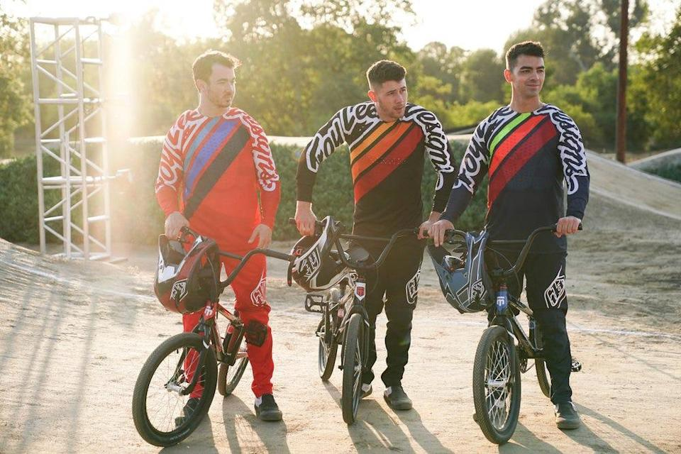 """From left to right, Kevin Jonas, Nick Jonas and Joe Jonas are pictured during """"Olympic Dreams Featuring Jonas Brothers."""""""