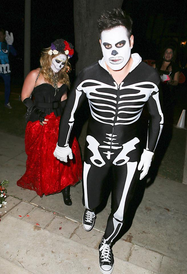 Hillary Duff and husbad Mike Comrie went to a Halloween Party in Beverly Hills. 