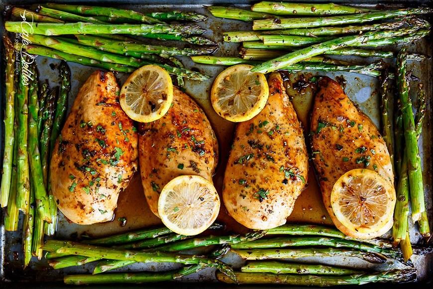 """<p>This sheet pan idea seems fancy, but is actually super easy—perfect for impressing guests. Or, you know, just treating yourself. Get the recipe <a rel=""""nofollow"""" href=""""https://cafedelites.com/2017/02/26/one-pan-honey-lemon-chicken-asparagus?mbid=synd_yahoofood"""">here</a>.</p>"""