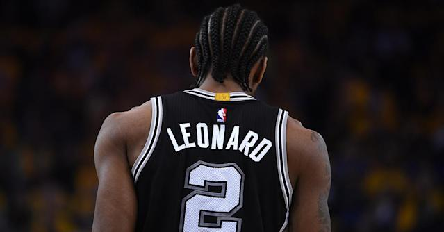 "More than a month into the season, there's still no timeline for <a class=""link rapid-noclick-resp"" href=""/nba/players/4896/"" data-ylk=""slk:Kawhi Leonard"">Kawhi Leonard</a>'s return."
