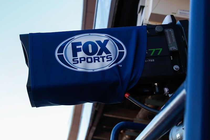 TUCSON, AZ - NOVEMBER 24: The Fox Sports logo on a TV camera before the college football game between the Arizona State Sun Devils and the Arizona Wildcats on November 24, 2018 at Arizona Stadium in Tucson, Arizona (Photo by Kevin Abele/Icon Sportswire via Getty Images)