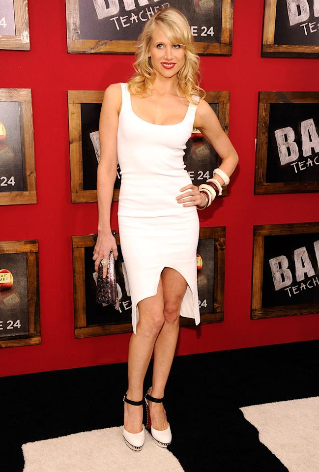 """<a href=""""http://movies.yahoo.com/movie/contributor/1804519884"""">Lucy Punch</a> at the New York City premiere of <a href=""""http://movies.yahoo.com/movie/1810150690/info"""">Bad Teacher</a> on June 21, 2011."""