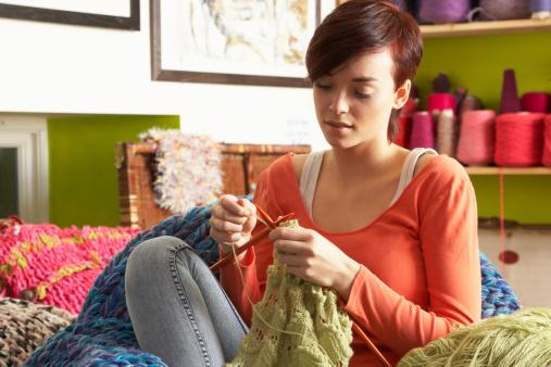 Knitting Mental Health : The secret of happiness knitting baking and making jam