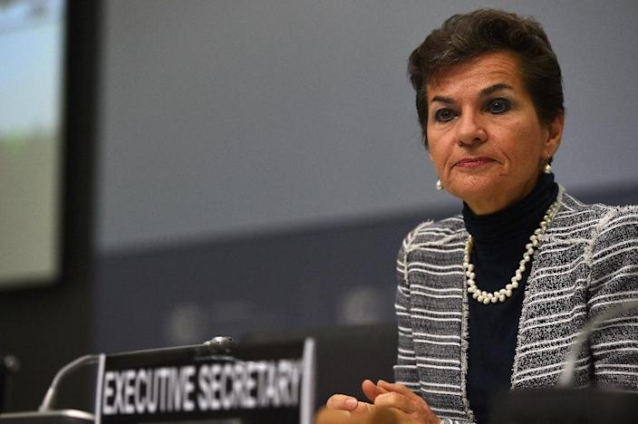 Christiana Figueres, Executive Secretary of the United Nations Framework Convention on Climate Change (UNFCCC) (AFP Photo/Patrik Stollarz)