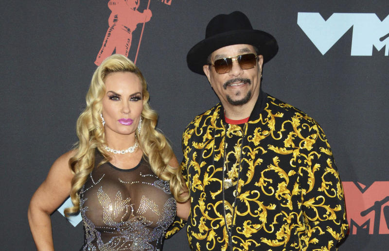 Photo by: zz/Patricia Schlein/STAR MAX/IPx 2019 8/26/19 Coco Austin and Ice-T at the 2019 MTV Video Music Awards held at the Prudential Center in Newark, New Jersey, USA.