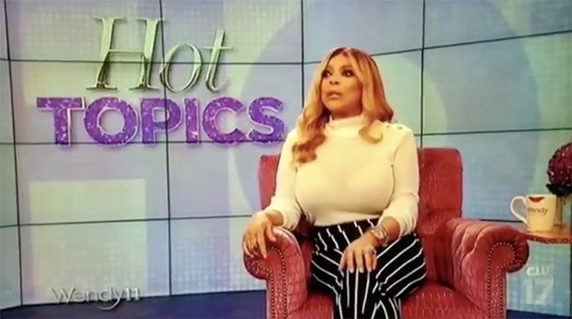 Wendy Williams made the comments on US chat show