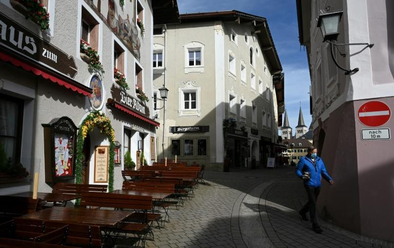 The south German city of Berchtesgaden, after a local lockdown was imposed
