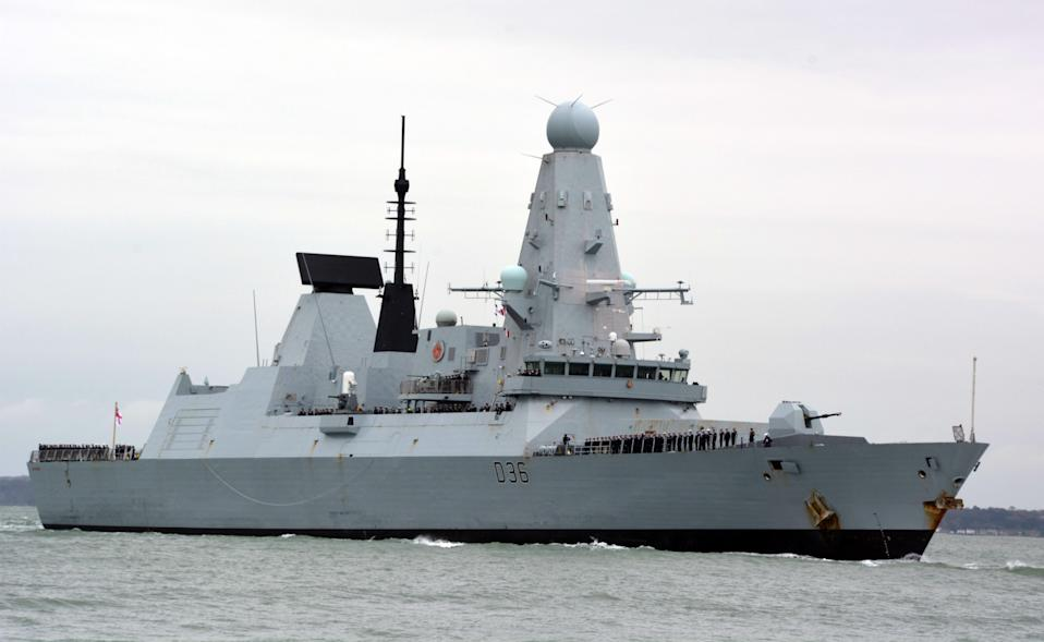 The papers contained details about HMS Defender's voyage off Crimea (Ben Mitchell/PA) (PA Wire)