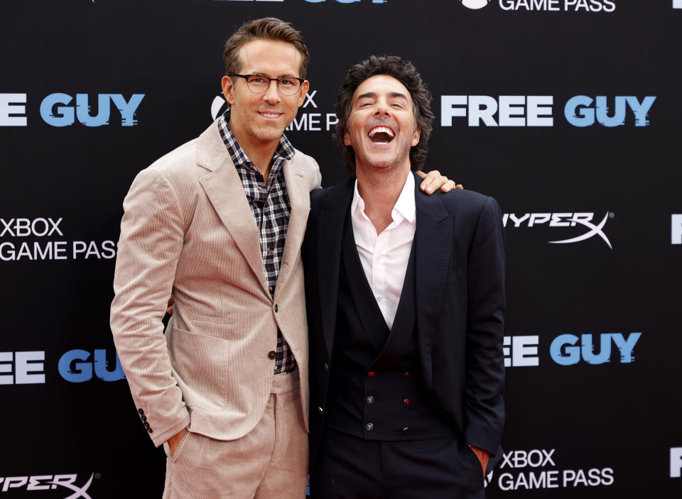 NEW YORK, NEW YORK - AUGUST 03: Ryan Reynolds and director Shawn Levy attend the