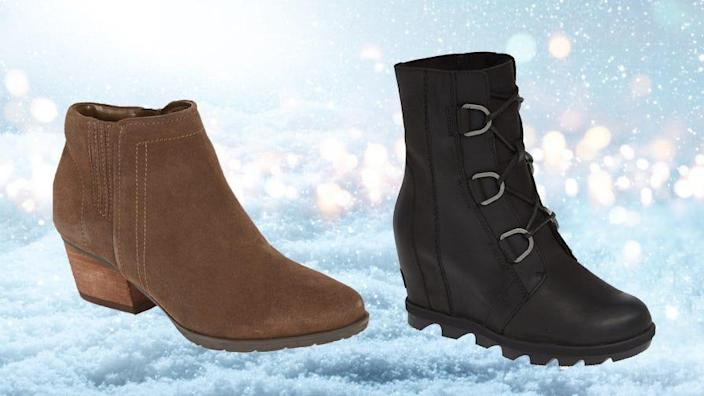 Up your cold-weather footwear game.