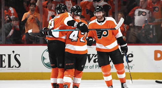 "<a class=""link rapid-noclick-resp"" href=""/nhl/players/5369/"" data-ylk=""slk:Sean Couturier"">Sean Couturier</a> made a huge difference for the <a class=""link rapid-noclick-resp"" href=""/nhl/teams/phi"" data-ylk=""slk:Flyers"">Flyers</a> in Game 6. (Bruce Bennett/Getty Images)"