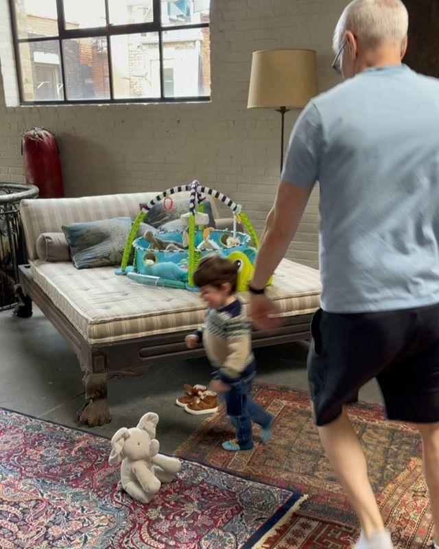 """<p>Cohen <a href=""""https://people.com/parents/anderson-cooper-playtime-andy-cohen-son-benjamin/"""" rel=""""nofollow noopener"""" target=""""_blank"""" data-ylk=""""slk:shared an adorable clip"""" class=""""link rapid-noclick-resp"""">shared an adorable clip</a> of Cooper having a playtime session with 2-year-old Ben, which shows the pair running in a circle around a stuffed elephant as upbeat music plays.</p> <p>""""Turns out, this is all the entertainment I ever needed!"""" Cohen <a href=""""https://www.instagram.com/p/CL7bQL5BzA6/"""" rel=""""nofollow noopener"""" target=""""_blank"""" data-ylk=""""slk:captioned the post"""" class=""""link rapid-noclick-resp"""">captioned the post</a>.</p>"""