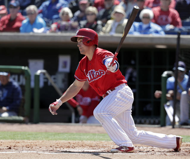 Scott Kingery is set up to play a significant role with the Phillies right now. (AP Photo/John Raoux)