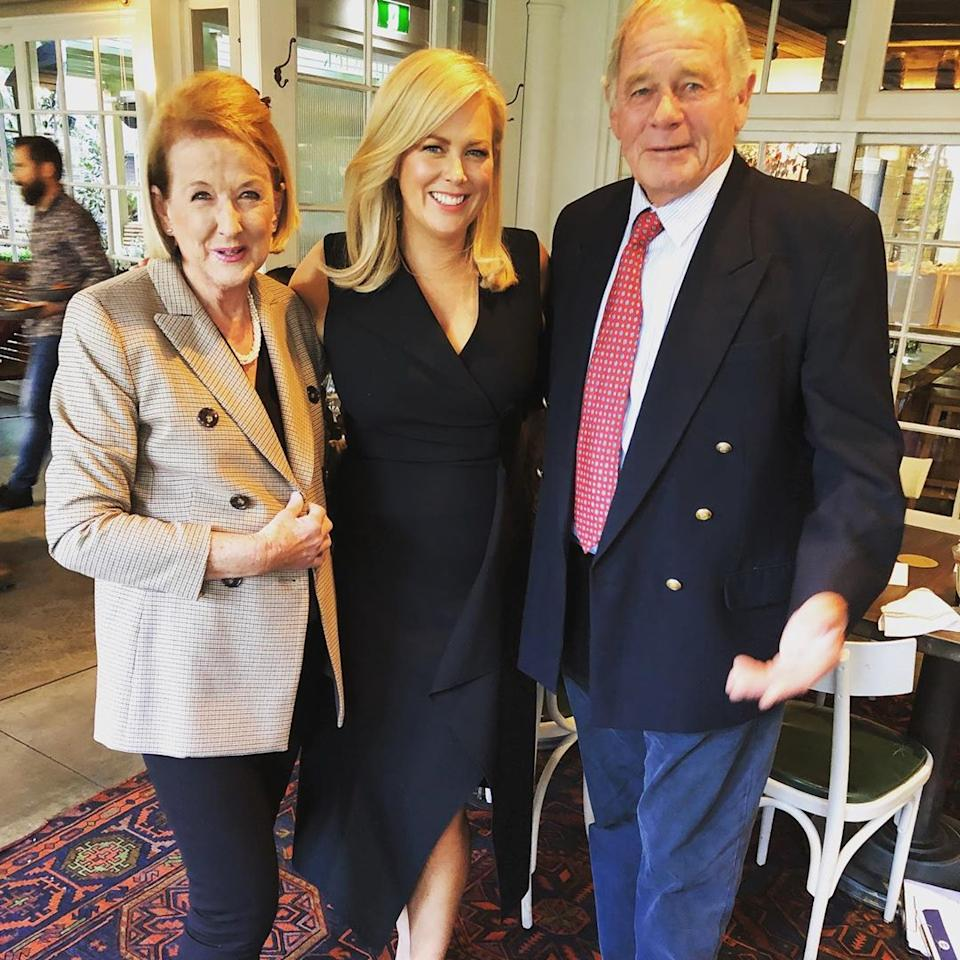 Sam with her late mum, Libby, and dad, Mac Armytage. Photo: Instagram/sam_armytage.