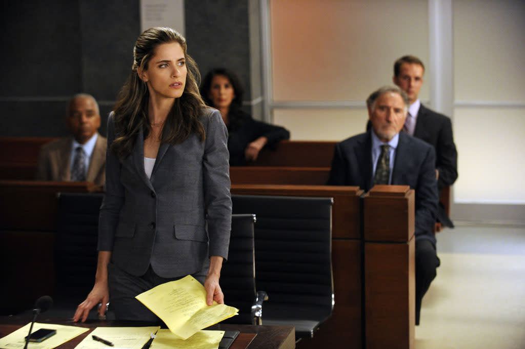 "Laura (Amanda Peet) must scramble when Will accuses the judge (Judd Hirsch) in their case of being biased in ""Here Comes the Judge,"" the eighth episode of ""The Good Wife"" Season 4."