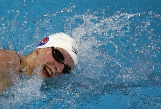 Swim star Ledecky smashes 800m freestyle world record