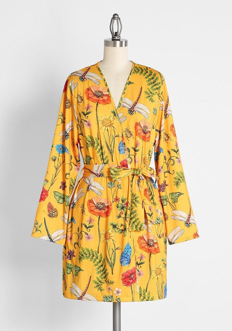 <p>If your BFF loves to have at-home spa days and takes their self-care to a whole new level or just loves robes, you can't go wrong with this stunning <span>Springtime Daydreams Robe</span> ($59). It's made from a soft cotton-viscose jersey knit and has long sleeves, an open-front, side pockets, and a tie-sash belt at the waist. </p>