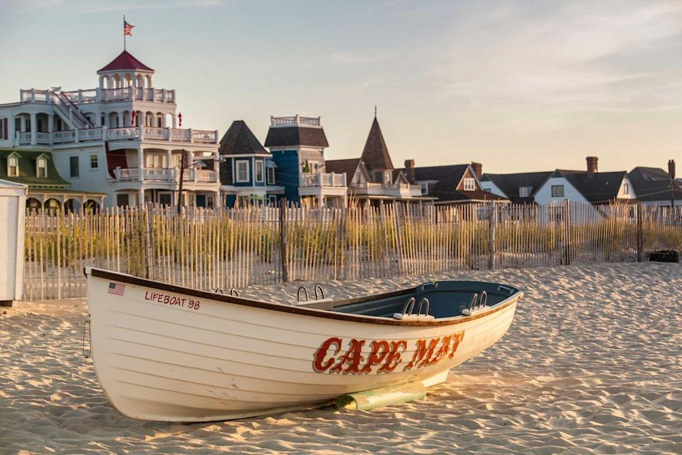 """<p><strong>Cape May</strong></p><p><a href=""""https://www.capemay.com/"""" rel=""""nofollow noopener"""" target=""""_blank"""" data-ylk=""""slk:Cape May"""" class=""""link rapid-noclick-resp"""">Cape May</a> is the perfect combination of summer fun and history, as the entire city is a National Historic District, with nearly 600 preserved Victorian buildings. This beach town always has something to do from enjoying the sand and waves and special events throughout the year like classic jazz festivals.</p>"""