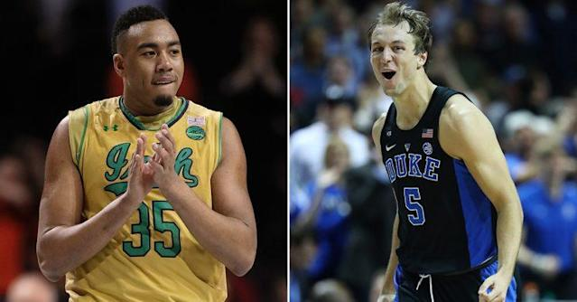 Notre Dame's Bonzie Colson and Duke's Luke Kennard will meet in the ACC championship on Saturday (Getty).